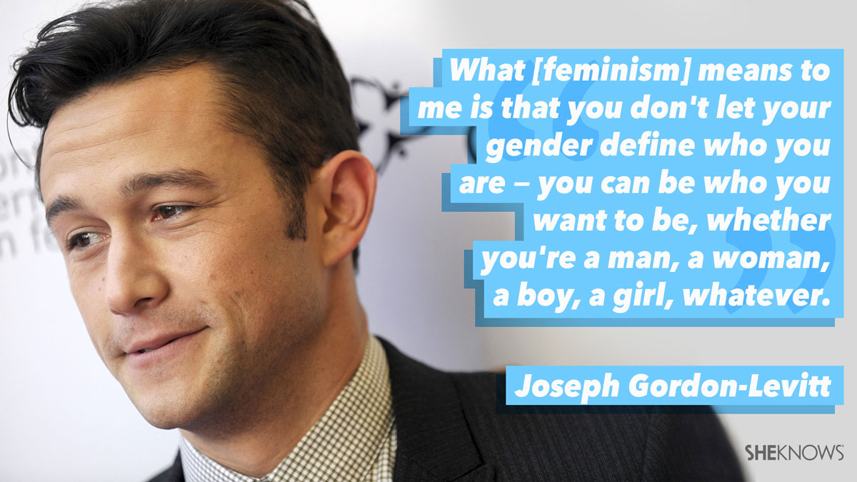 Joseph Gordon Levit is a Feminist