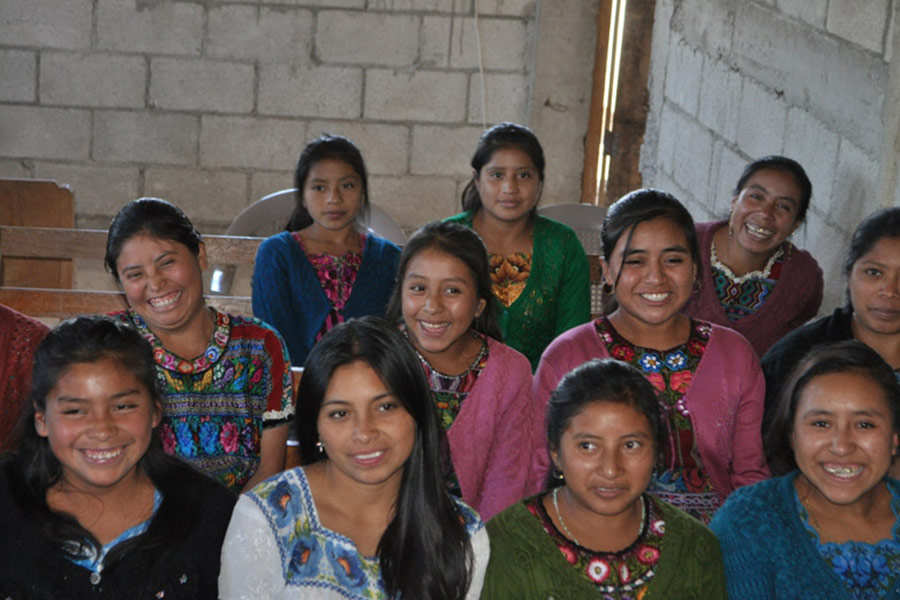 Women from Acatenango attending feminine hygiene workshop