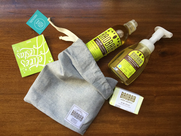Baobab products in gift bag