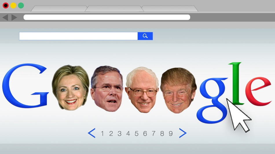 Google Presidential Candidates heads