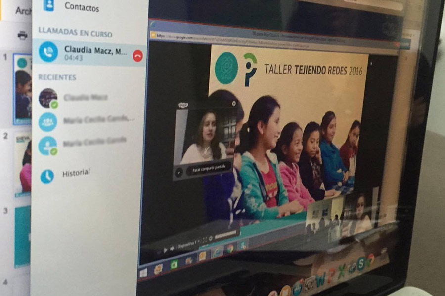 Virtual weaving networks workshop given to women of Population Council, Petén