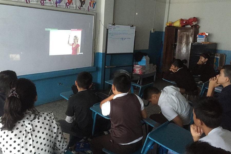 Education Workshop at Escuela Concepcion Saravia